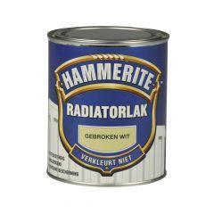 Hammerite radiatorlak hoogglans gebroken wit - 750 ml.
