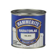 Hammerite radiatorlak hoogglans ral 9010 - 250 ml.