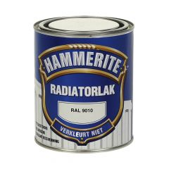 Hammerite radiatorlak hoogglans ral 9010 - 750 ml.