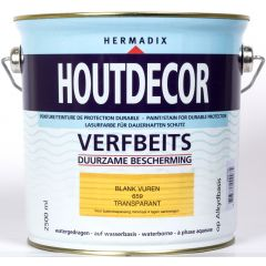 Hermadix houtdecor verfbeits blank vuren - 2,5 liter