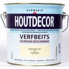 Hermadix houtdecor verfbeits gebroken wit - 2,5 liter