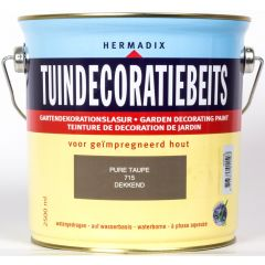 Hermadix tuindecoratiebeits dekkend pure taupe - 2,5 liter