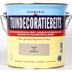 Hermadix tuindecoratiebeits dekkend taupe - 2,5 liter