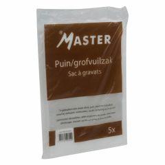 Master puin/grofvuilzakken 60 liter - 5 stuks