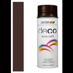 Motip deco alkyd hoogglans lak RAL 8017 choco bruin - 400 ml.