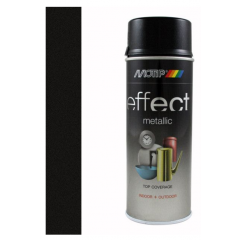 Motip/Dupli-Color deco effect metallic lak zwart - 400 ml.