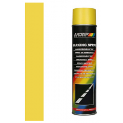 Motip markeringspray voor handmatige verwerking geel - 600 ml.