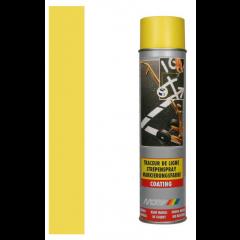 Motip markeringspray voor markeerwagen geel - 600 ml.