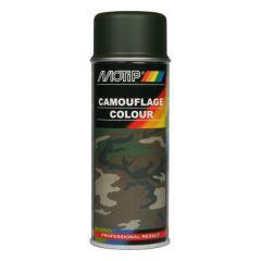 Motip camouflagelak mat RAL 6031 forest green / woudgroen - 400 ml.