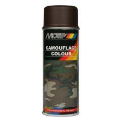 Motip camouflagelak mat RAL 8027 lederbruin - 400 ml.