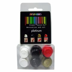 Motip / Dupli-Color sproeikoppen / spuitkoppen set platinum - 6 stuks