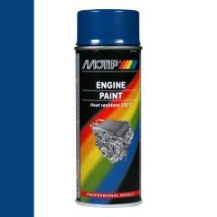 Motip engine paint / motorblokken lak blauw (04094) - 400 ml.
