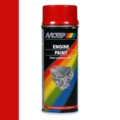 Motip engine paint / motorblokken lak rood (04091) - 400 ml.
