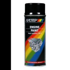 Motip engine paint / motorblokken lak zwart (04092) - 400 ml.