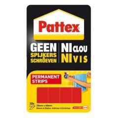 Pattex geen spijkers en schroeven montagestrips permanent