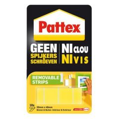 Pattex geen spijkers en schroeven montagestrips verwijderbaar