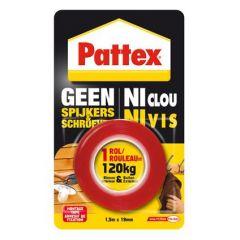 Pattex geen spijkers en schroeven montagetape buiten - 120 kg.