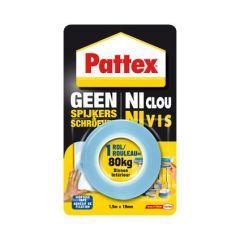 Pattex geen spijkers en schroeven montagetape binnen - 80 kg.