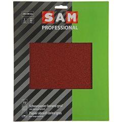 SAM professional schuurpapier droog korund grof - 3 stuks