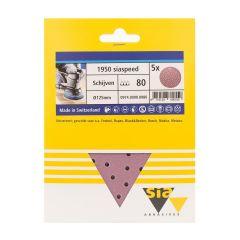 Sia siaspeed schuurschijf rond multigat P80 - 125 mm. (5 stuks)