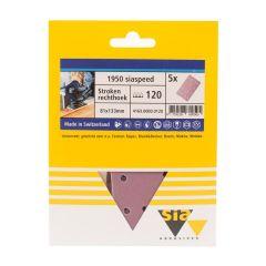 Sia siaspeed schuurstrook 14-gaats P150 - 80 mm. x 133 mm. (5 stuks)
