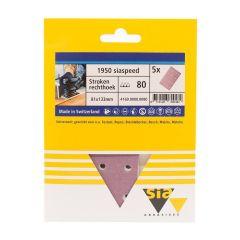 Sia siaspeed schuurstrook 14-gaats P80 - 80 mm. x 133 mm. (5 stuks)
