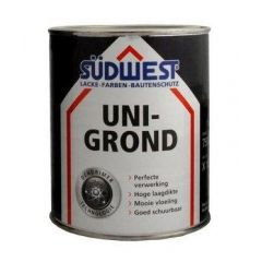 Südwest uni-grond X18 grondverf zwart - 750 ml.