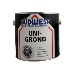Südwest uni-grond X18 grondverf zwart - 2,5 liter