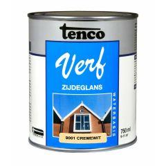 Tenco verf acryl zijdeglans crèmewit (RAL 9001) - 750 ml