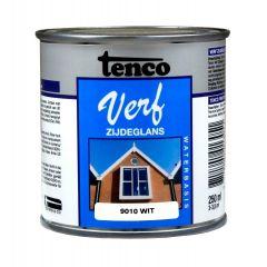 Tenco verf acryl zijdeglans wit (RAL 9010) - 250 ml