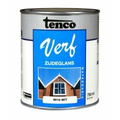 Tenco verf acryl zijdeglans wit (RAL 9010) - 750 ml