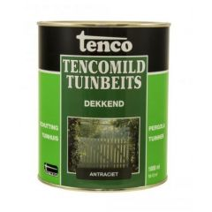 Tenco tencomild tuinbeits dekkend antraciet - 1 liter