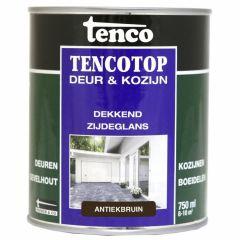 Tenco tencotop houtbescherming dekkend zijdeglans antiekbruin (38) - 750 ml.