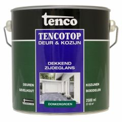 Tenco tencotop houtbescherming dekkend zijdeglans donkergroen (51) - 2,5 liter