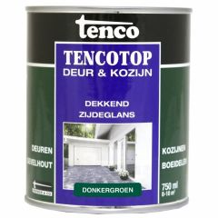 Tenco tencotop houtbescherming dekkend zijdeglans donkergroen (51) - 750 ml.