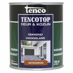 Tenco tencotop houtbescherming dekkend hoogglans antiekbruin (38) - 750 ml.