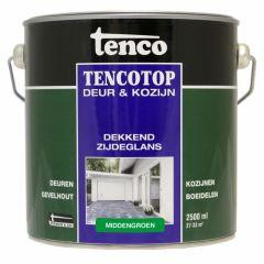 Tenco tencotop houtbescherming dekkend zijdeglans middengroen (52) - 2,5 liter