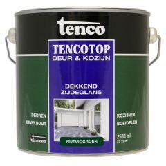 Tenco tencotop houtbescherming dekkend zijdeglans rijtuiggroen (50) - 2,5 liter