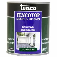 Tenco tencotop houtbescherming dekkend zijdeglans rijtuiggroen (50) - 750 ml.