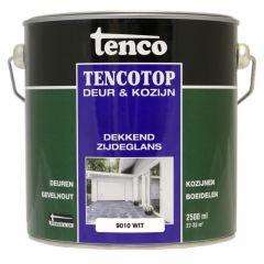 Tenco tencotop houtbescherming dekkend zijdeglans wit (64) - 2,5 liter