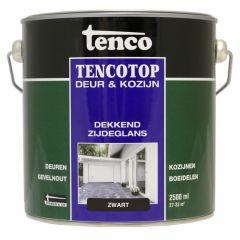 Tenco tencotop houtbescherming dekkend zijdeglans zwart (39) - 2,5 liter