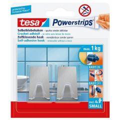 Tesa 57066 powerstrips haken small rechthoekig RVS