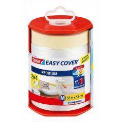 Tesa easy cover afdekfolie + afplakband in dispenser 33 m x 550 mm.