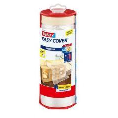 Tesa easy cover afdekfolie + afplakband in dispenser 33 x 1,4 meter