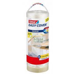 Tesa easy cover afdekfolie + afplakband navulling 17 x 2,6 meter