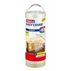 Tesa easy cover afdekfolie + afplakband navulling 33 x 1,4 meter