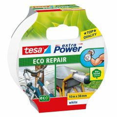 Tesa extra power eco repair textieltape wit - 10 m x 38 mm.