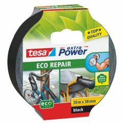 Tesa extra power eco repair textieltape zwart - 20 m x 38 mm.