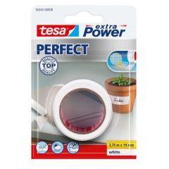 Tesa extra power perfect textieltape wit blisterverpakking - 2,75 m x 19 mm.