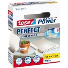 Tesa extra power perfect textieltape wit hangdoosje - 2,75 m x 19 mm.